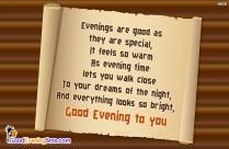 Inspirational Good Evening SMS Text Messages