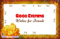 Good Evening Buddies SMS