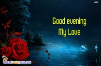 Good Evening Wishes For Lover