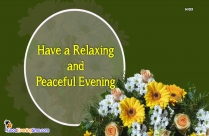 Good Evening Wishes Message In English