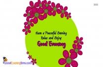 Good Evening Best Wishes