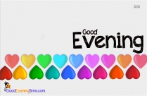 Good Evening SMS with Heart