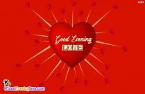 Gud Evening In Love Symbol