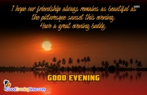 Good Evening Wishes To Friends