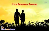 Good Evening Wallpaper In English