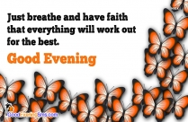 Good Evening Quotes Image