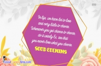 Good Evening Sms Quote