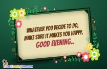 Good Evening Dear Friend Message