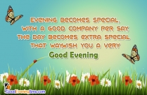 Wish You A Very Good Evening Quotes